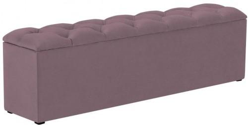 Fialový otoman k posteli s úložným priestorom Kooko Home Manna, 47 × 140 cm