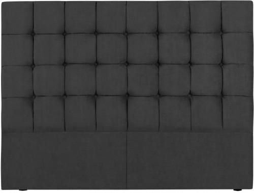 Tmavosivé čelo postele Kooko Home Hasso, 120 × 200 cm