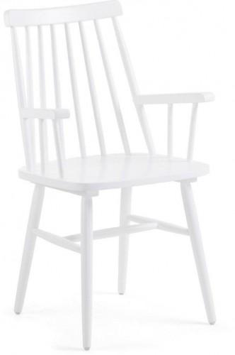 Biela jedálenská stolička z dreva kaučukovníka La Forma Kristie