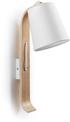 Biela nástenná lampa La Forma Percy