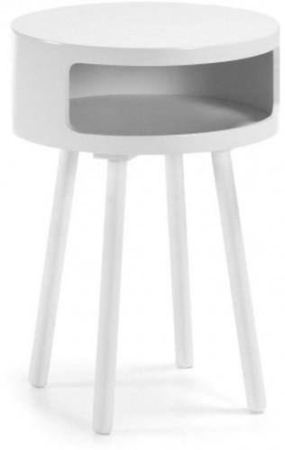 Biely odkladací stolík s úložným priestorom La Forma Bruk