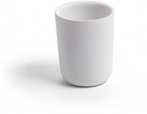Biely pohárik na kefky La Forma Lynck