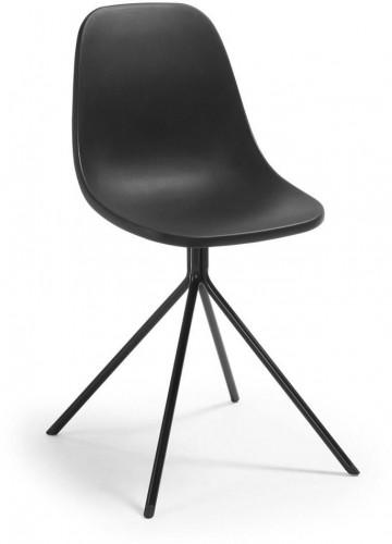 Čierna jedálenská stolička La Forma Mint
