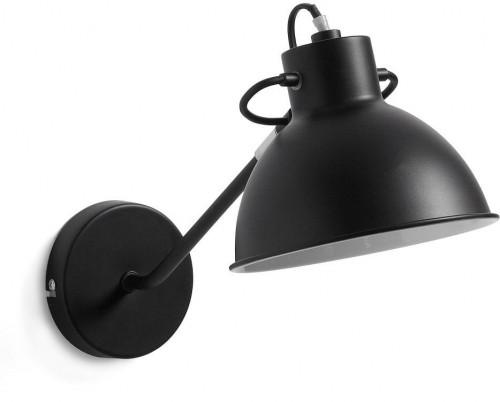 Čierna nástenná lampa La Forma Odalis
