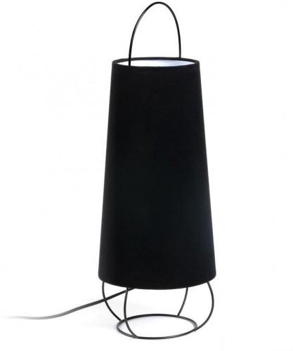 Čierna stolová lampa La Forma Belana, výška 20 cm