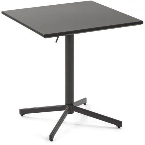 Čierny jedálenský konferenčný stolík La Forma Advance, výška 75 cm