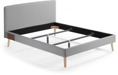 Sivá dvojlôžková posteľ La Forma Lydia, 164,5 x 203 cm.
