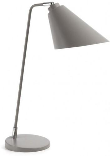 Sivá stolová lampa La Forma prieť