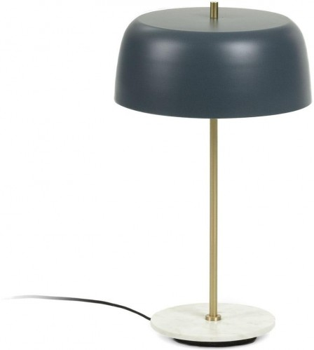 Tmavomodrá stolová lampa La Forma Binary, výška 31 cm