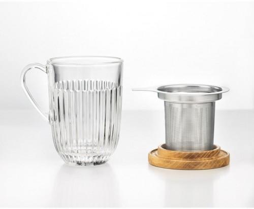 Sklenený pohár so sitkom a pokrievkou La Rochére, 400 ml