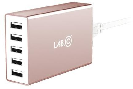 LAB.C X5 5Port USB Wall Charger - Rose Gold LABC-587-RG_KR
