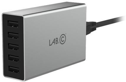 LAB.C X5 5Port USB Wall Charger - šedý LABC-587-GR_KR