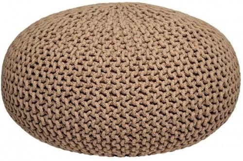 Béžový pletený puf LABEL51 Knitted XL