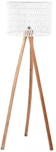 Biela lampa z mangového dreva LABEL51 Stripe