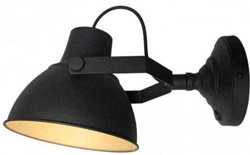 Čierne nástenné svietidlo LABEL51 Raw