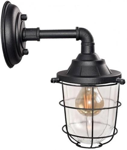 Čierne nástenné svietidlo LABEL51 Seal