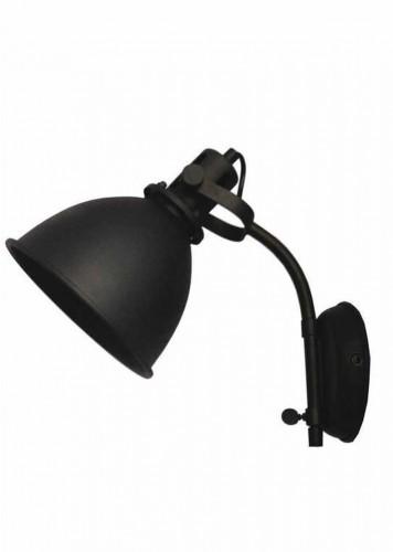 Čierne nástenné svietidlo LABEL51 Spot