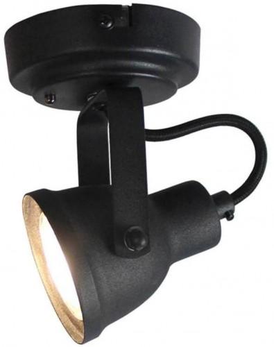 Čierne nástenné svietidlo LABEL51 Spot Max Uno