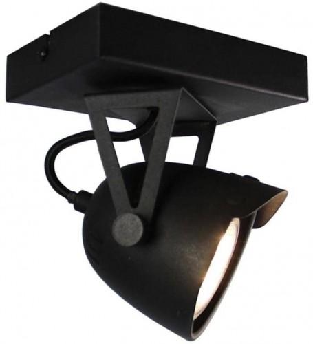 Čierne nástenné svietidlo LABEL51 Spot Moto Cap Uno