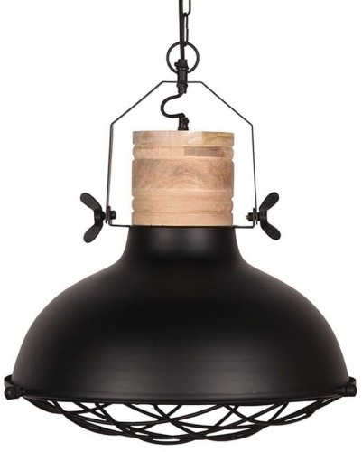 Čierne stropné svietidlo LABEL51 Grid, ⌀ 52 cm