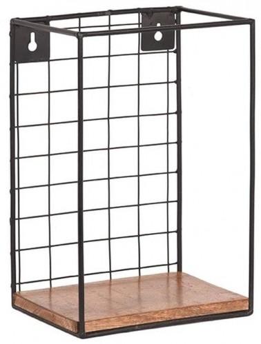 Nástenná polica z mangového dreva LABEL51 Firm, šírka 20 cm