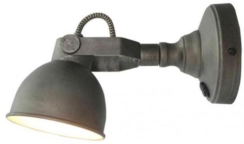 Sivé nástenné svietidlo LABEL51 Bow L