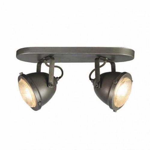 Sivé nástenné svietidlo LABEL51 Spot Moto Dos