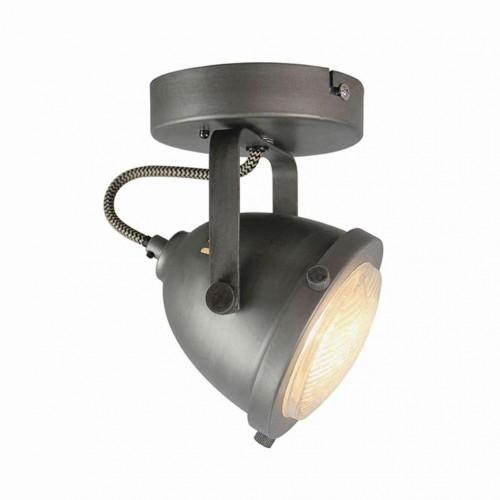 Sivé nástenné svietidlo LABEL51 Spot Moto Uno