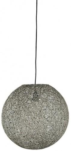 Sivé stropné svietidlo LABEL51 Twist, ⌀45 cm