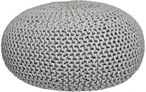 Sivý pletený puf LABEL51 Knitted XL