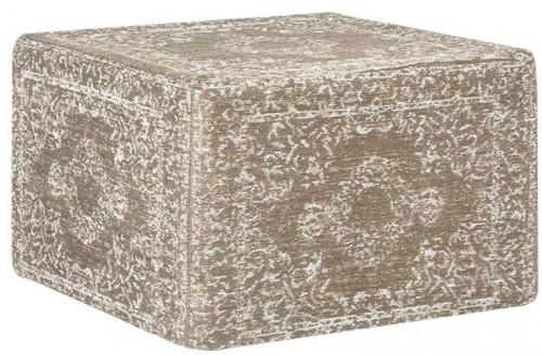 Svetlo-hnedý bavlnený puf LABEL51 Vintage
