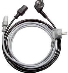 Sieťový prepojovací kábel s IEC zásuvkou LAPP ÖLFLEX PLUG H05VV-F 3G1,5/5000 GY 73222381, 5 m, sivá