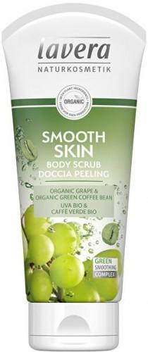 Lavera Tělo vý peeling Smooth Skin Bio hrozno a Bio zelená káva ( Body Scrub) 200 ml