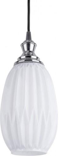 Biele závesné svietidlo Leitmotiv Posh, výška 22 cm