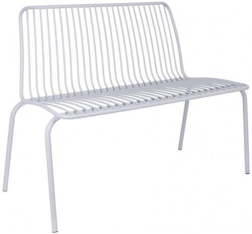 LEITMOTIV Exteriérová lavička Lineate Metal – šedá