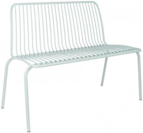 LEITMOTIV Exteriérová lavička Lineate Metal – zelená