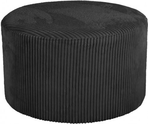 LEITMOTIV Malý menčestrový čierny taburet Glam
