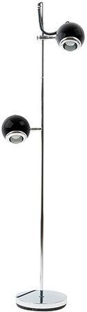 Podlahová lampa Leitmotiv, RETRO, čierna, 150cm