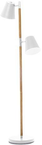 Podlahová lampa Leitmotiv Rubi 150cm, biela farba