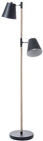 Podlahová lampa Leitmotiv Rubi 150cm, čierna