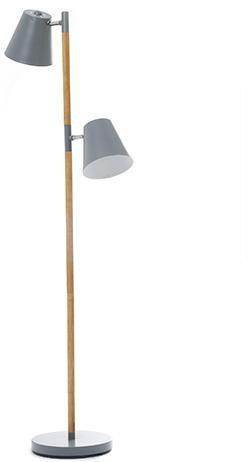 Podlahová lampa Leitmotiv Rubi 150cm, šedá farba