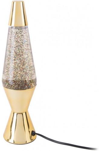 Stolová lampa v zlatej farbe Leitmotiv Glitter, výška 37 cm
