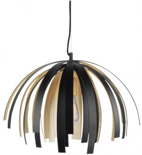 Stropné svietidlo v čierno-zlatej farbe Leitmotiv Willow