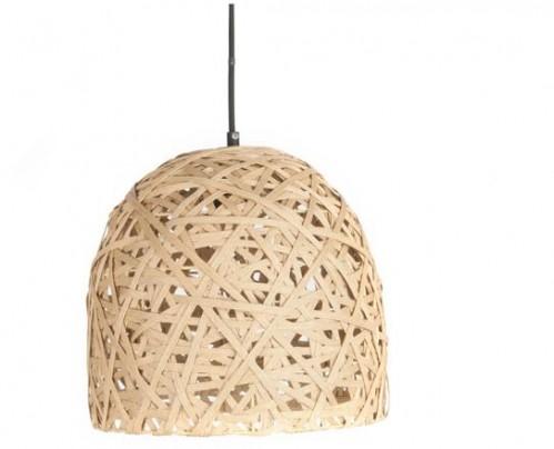 Závesná lampa Leitmotiv Nest cone medium natural, 30cm