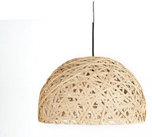 Závesná lampa Leitmotiv Nest dome large natural, 40cm