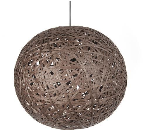 Závesná lampa Leitmotiv Nest round large dark brown, 50cm