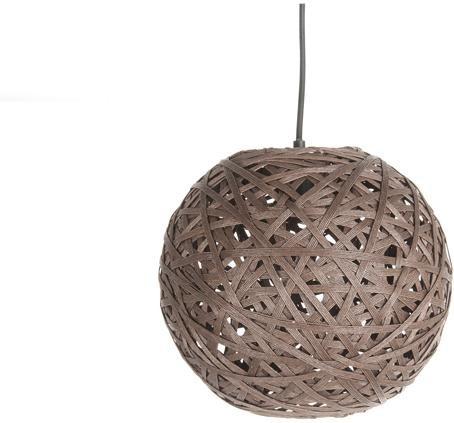 Závesná lampa Leitmotiv Nest round medium dark brown, 30cm