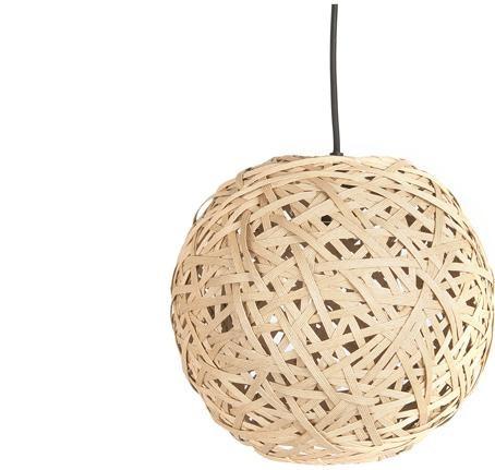 Závesná lampa Leitmotiv Nest round medium natural, 30cm