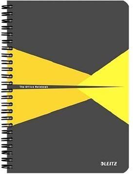 LEITZ Office A5 90 listů - šedo/žlutý