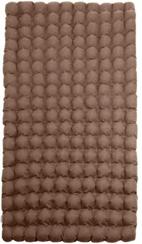 Hnedý relaxačný masážny matrac Linda Vrňáková Bubbles, 110 × 200 cm